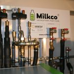 Milkco aansluitingen boven met bord